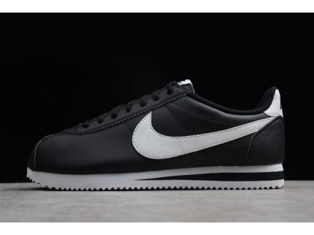 Nike Classic Cortez Leather Black/White 807471-010 Men Women-20