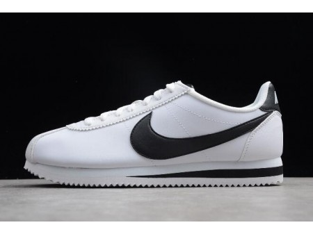 Nike Classic Cortez Leather White/Black 807471-101 Men Women-20