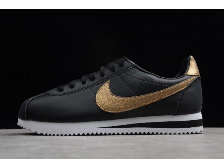 Nike Classic Cortez SE Black/metallic Gold-White 902801-002 Men Women-20