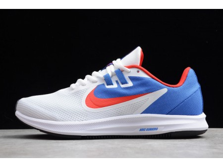 Nike Downshifter 9 White/Blue-Red Running Shoes AQ7486-600 Men Women-20