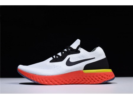 Nike Epic React Flyknit True White/Black-Pure Platinum-Bright Crimson-Volt AQ0067-103 Men Women-20