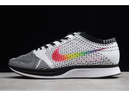Nike Flyknit Racer Be True White/Multi-Colour Black 902366-100 Men Women-20
