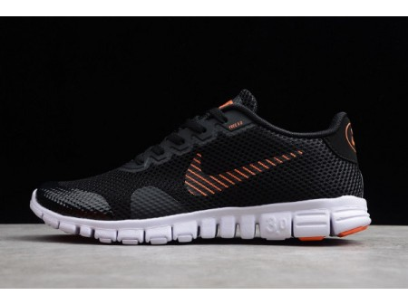 Nike Free Rn 3.0 V2 Black/Orange-Red-White 806568-003 Men-20