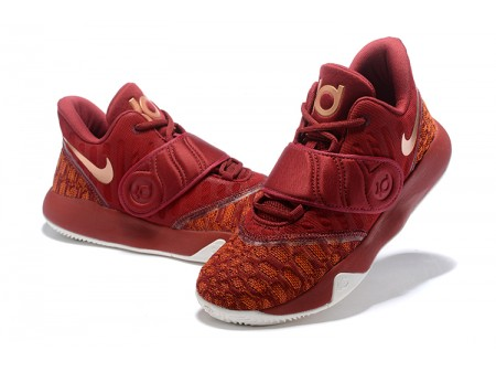 Nike KD Trey 5 VI Bordeaux/Metallic Gold-White Basketball Shoes Men-20
