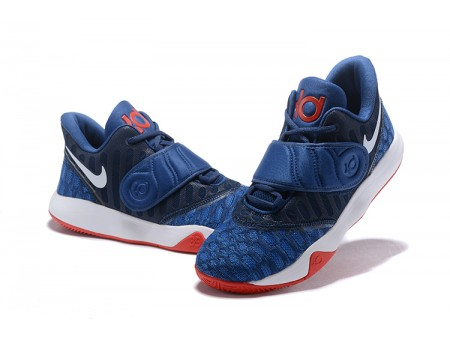 Nike KD Trey 5 VI Navy Blue/White-Red Basketball Shoes Men-20