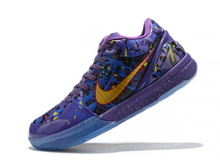 Nike Kobe 4 Purple/Metallic Gold Men-20