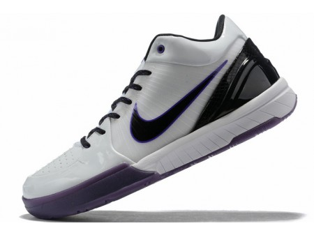 Nike Kobe 4 White/Purple-Black Men-20