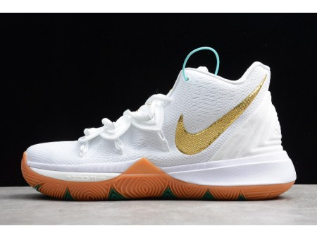 Nike Kyrie 5 White/Gum-Metallic Gold AO2919-117 Men