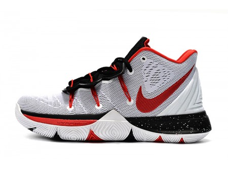 Nike Kyrie 5 White/Red-Black Men-20