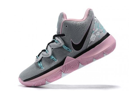 Nike Kyrie 5 Wolf Grey/Pink-Black Men-20