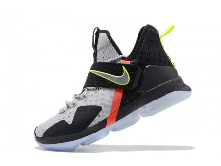 Nike LeBron 14 Out of Nowhere Wolf Grey/Black-Volt-Bright Crimson Men-20