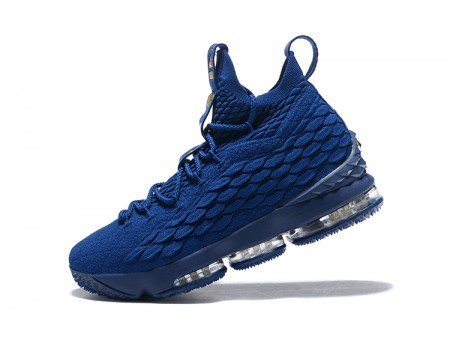 Nike LeBron 15 Agimat Philippines Coastal Blue/Metallic Gold Basketball Shoes Men-20