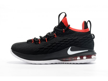 Nike LeBron 15 Low Black White Red Basketball Shoes Men-20