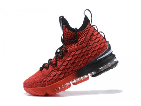 Nike LeBron 15 PE In Red/Black Basketball Shoes Men