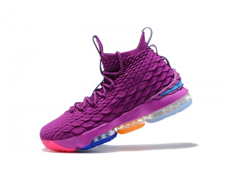 Nike LeBron 15 What The Volt and Purple Men-20