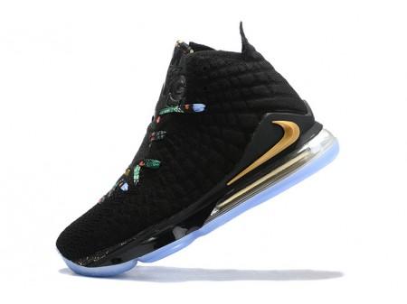 Nike LeBron 17 Black/MultiColour-Metallic Gold Men