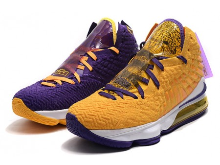 Nike LeBron 17 'What The' Lakers Purple/Yellow Men