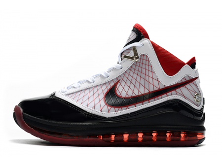 Nike LeBron 7 Cleat White Black Red Men-20