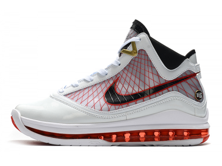 Nike LeBron 7 White/Red-Black Men-20