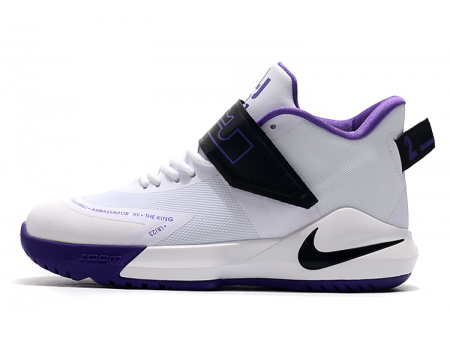 Nike LeBron Ambassador 12 White/Black-Purple Men-20
