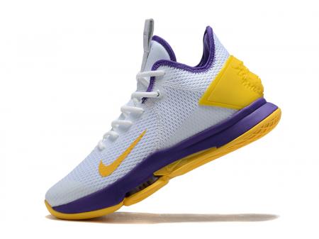 Nike LeBron Witness 4 IV EP White/Purple-Yellow Men-20