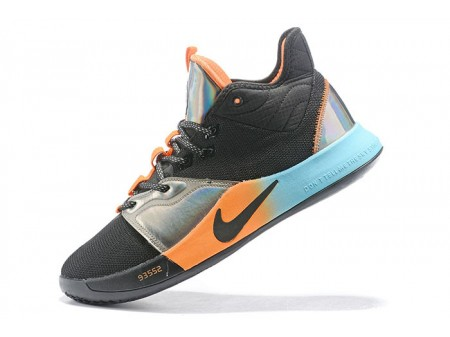 Nike PG 3 Black/Orange-Silver-Blue Men-20