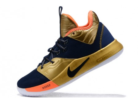 Nike PG 3 Navy Blue/Metallic Gold-Orange Men-20