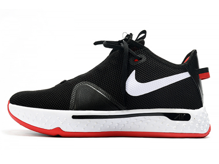 Nike PG 4 Bred Black/White-University Red Men-20