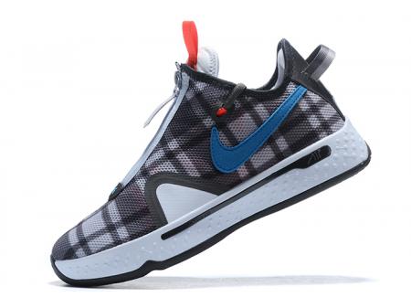 Nike PG 4 Plaid Football Grey/Laser Blue-Light Smoke Grey CD5079-002 Men-20