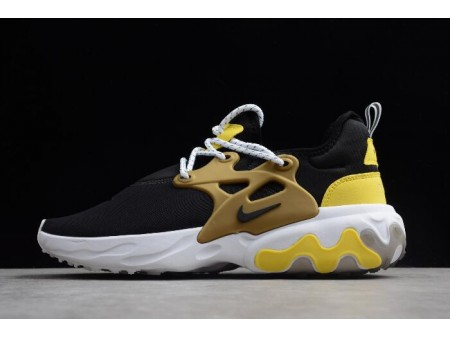 Nike Presto React Black/Yellow/White/Metallic Gold Running Shoes AV2605-001 Men Women-20