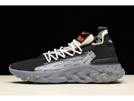 Nike React LW WR ISPA Black/Metallic Silver-Gunsmoke AR8555-001 Men