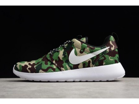 Nike Roshe Run ID White/Camo Green Running Shoes 943711-885 Men Women-20