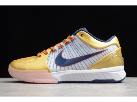 Nike Zoom Kobe 4 Protro Metallic Gold/Navy Blue-White CQ3869-107 Men-20