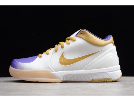 Nike Zoom Kobe 4 White/Metallic Gold-Purple 4344335-171 Men-20