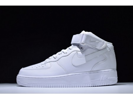 Nike Air Force 1 Mid All White 315123-111 for Men and Women