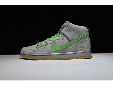Nike Dunk High Premium Sb Silver Box Suede Grey-Green 313171-039 for Men