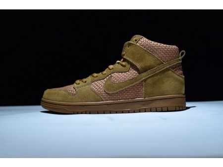 Nike Dunk High Prm Brown Ale 313171-227 for Men