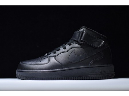Nike Air Force 1 '07 Mid Triple Black 315123-001 for Men and Women