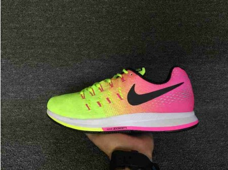 Nike Air Zoom Pegasus 33 Unlimited Olympic Collection Pink Yellow Green 846327-999 for Men-20
