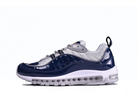 Supreme X Nike Air Max 98 Navy Grey 844694-400 for Men