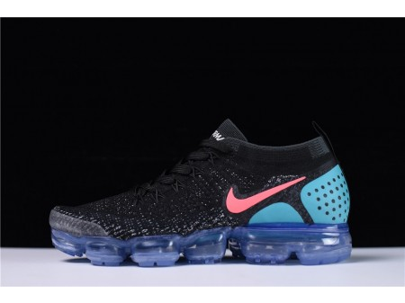 Nike Air VaporMax Flyknit 2.0 Black Blue Hot Punch 942842-003 for Men and Women-20