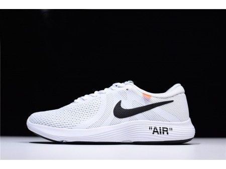 Off-White x Nike Revolution 4 White Running Shoes 908988-012 Men Women-20