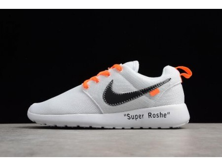 Off-White x Nike Roshe Super Run White/Black-Orange Running Shoes Men Women-20