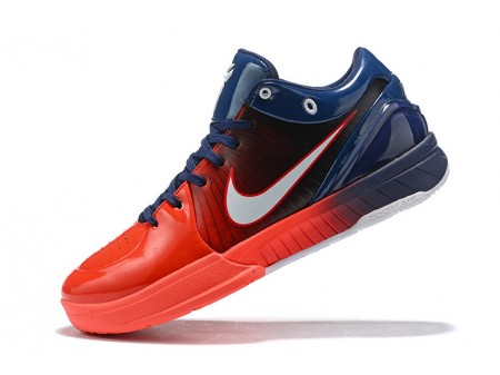 Undefeated x Nike Kobe 4 Protro USA Navy Blue/Red-White Men-20