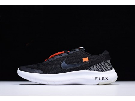 Virgil Abloh Off-White x Nike Flex Experience RN 7 Black/White Running Shoes AJ9089-001 Men Women-20