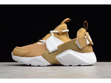 WMNS Nike Air Huarache City Low Elemental Gold/White AH6804-700 Women-20