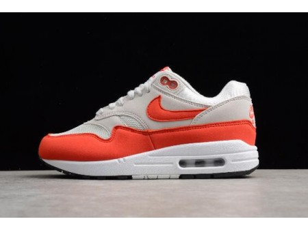 WMNS Nike Air Max 1 'Habanero Red' Vast Grey/Habanero Red 319986-035 Women