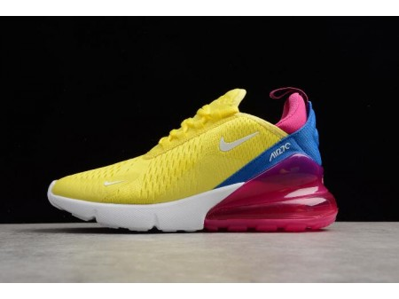 Nike Air Max 270 Bright Lemon Yellow/White-Racer Blue Women-20