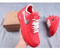 """OFF-White x Nike Air Force 1 OW """"For Serena only"""" """"Virgil 2019"""" Low Red Men Women CI1173-600"""
