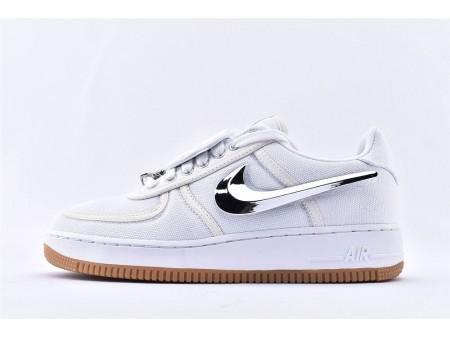 Nike Air Force 1 Low Travis Scott Weißes Segel AQ4211-100 Herren Damen-20